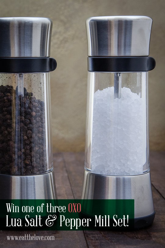 Win a set of OXO Salt and Pepper Mills! Photo by Irvin Lin of Eat the Love.