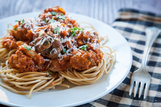 Spaghetti and Meatballs Recipe. Photo by Irvin Lin of Eat the Love.