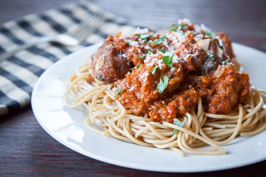 Spaghetti and Meatballs. Recipe and Photo by Irvin Lin of Eat the Love.