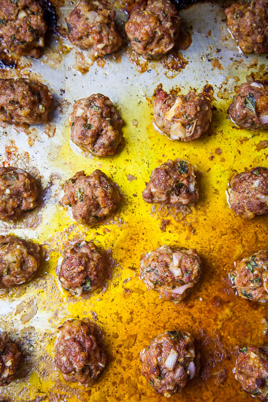 Oven cooked meatballs for spaghetti and meatballs. Photo by Irvin Lin of Eat the Love.