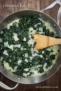 Creamed Kale. Recipe and photo by Irvin Lin of Eat the Love.