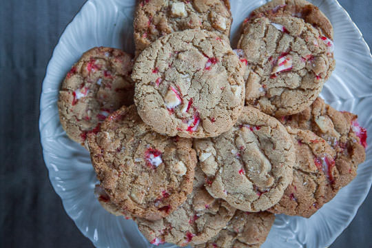 White Chocolate Peppermint Cookies. Recipe and Photo by Irvin Lin of Eat the Love.