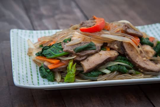 Korean Japchae Recipe. Photo and recipe by Irvin Lin of Eat the Love.
