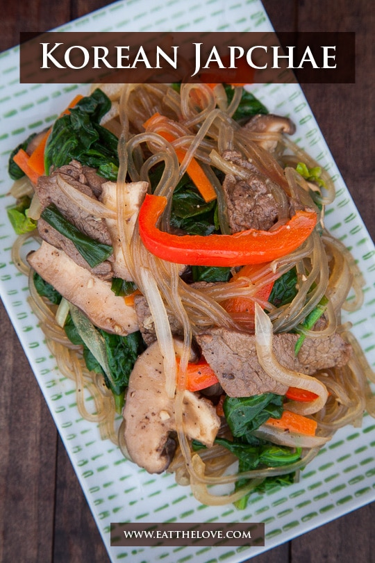 Japchae Recipe. Photo and recipe by Irvin Lin of Eat the Love/