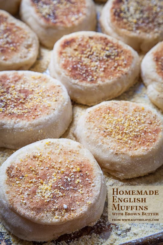 Homemade English Muffins with Brown Butter