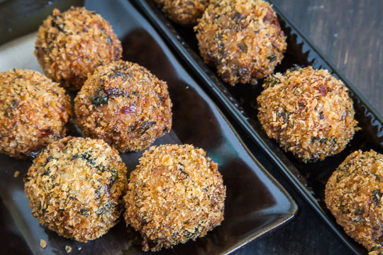 Arancini Recipe for Fried Risotto Balls. Photo and recipe by Irvin Lin of Eat the Love.