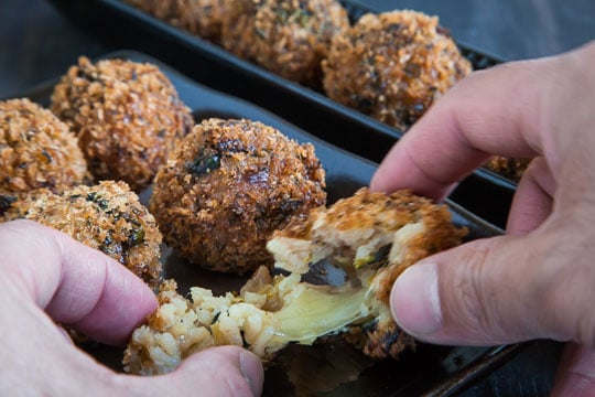 Arancini recipe, otherwise known as fried risotto balls. Photo and recipe by Irvin Lin of Eat the Love.