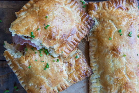 Ham and Cheese Hand Pies. Photo and Recipe by Irvin Lin of Eat the Love.