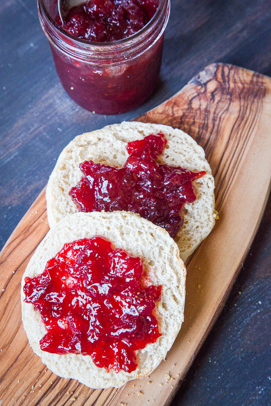 Strawberry Plum Jam on English Muffins. Photo and recipe by Irvin Lin of Eat the Love.