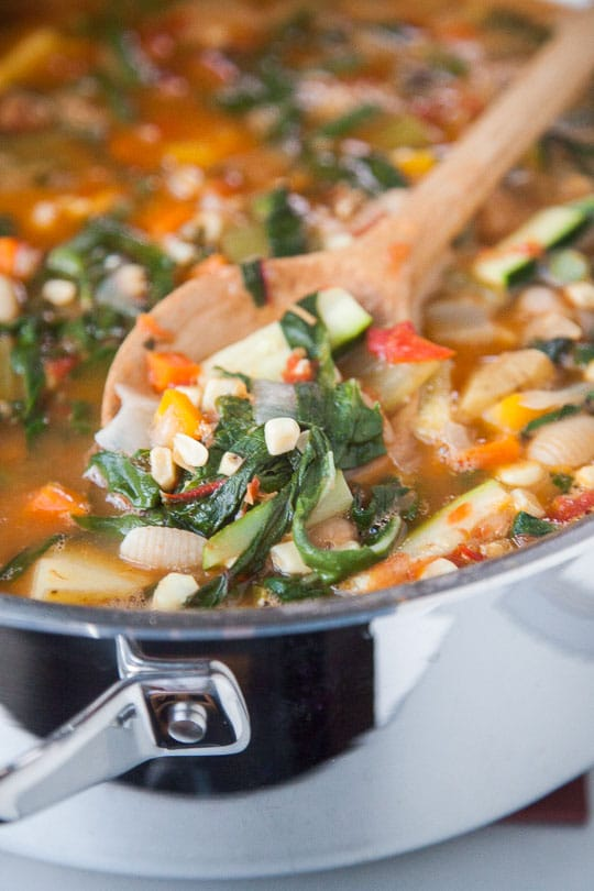 Summer Minestrone. Photo and recipe by Irvin Lin of Eat the Love.