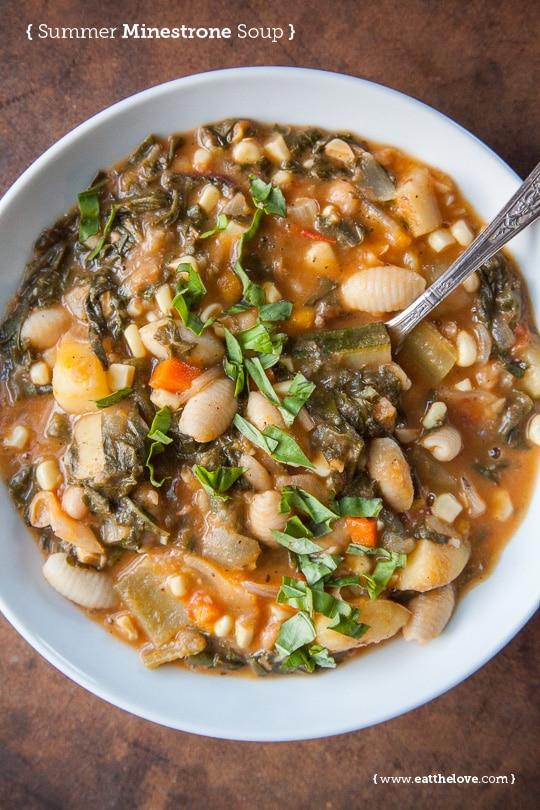 Summer Minestrone Soup. Photo and recipe by Irvin Lin of Eat the Love.