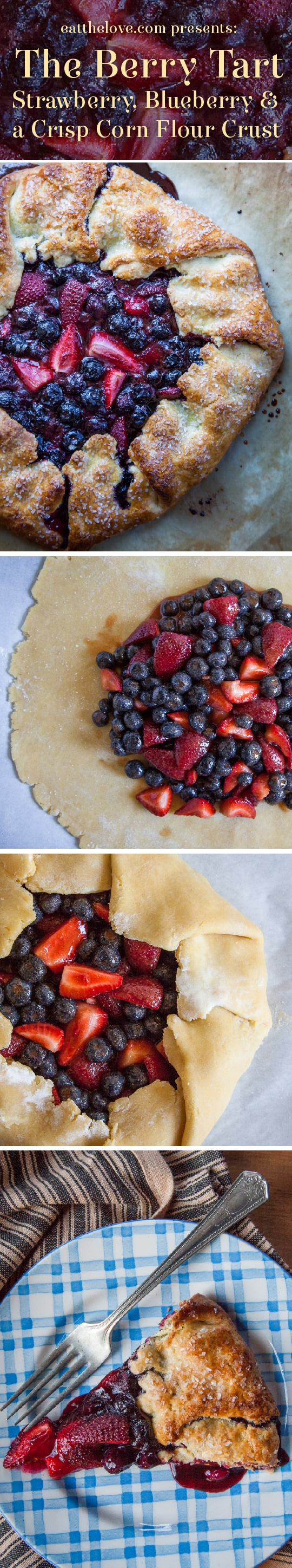 This easy berry tart with blueberries and strawberries has step-by-step photos and instructions on how to make it! Process photo and recipe by Irvin Lin of Eat the Love