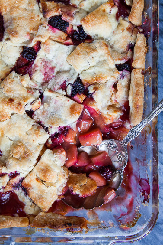 Apple Pandowdy Recipe with Blackberries. Photo and recipe by Irvin Lin of Eat the Love.