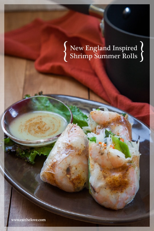 New England Inspired Shrimp Summer Rolls [Sponsored Post]