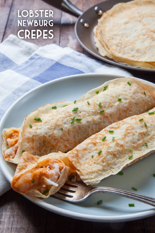 Lobster Newburg Crepe. Photo and recipe by Irvin Lin of Eat the Love.