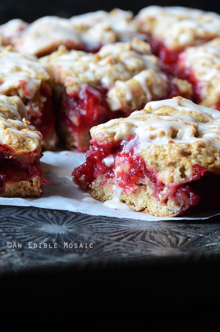 Cranberry Oat Jam Bars