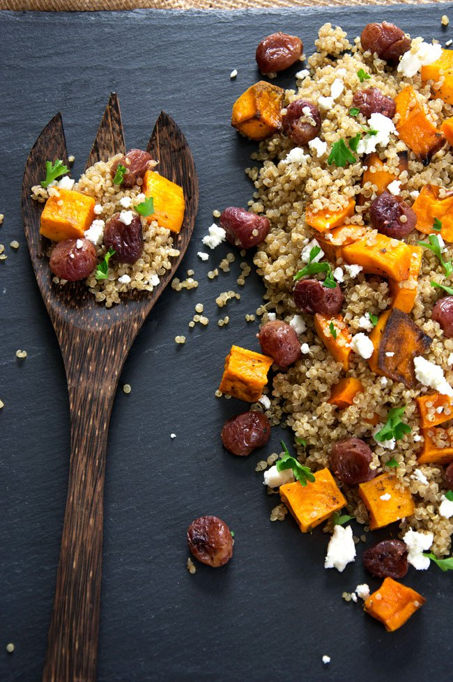 Caramelized Butternut Squash with Quinoa Salad