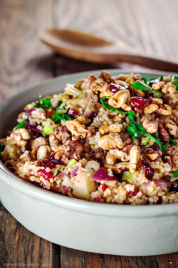 Cranberry Apple Freekah Stuffing