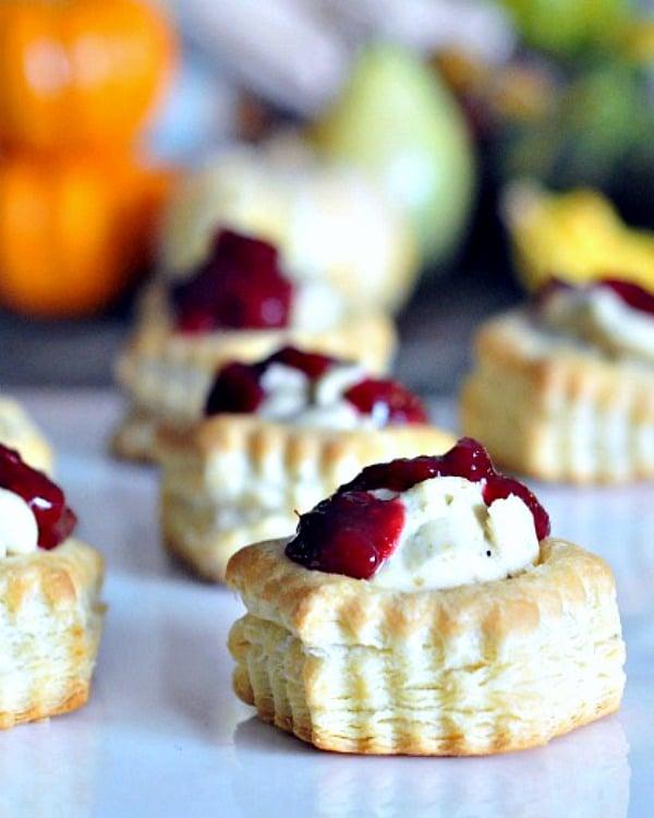 Garlic Pistachio Cranberry Tarts