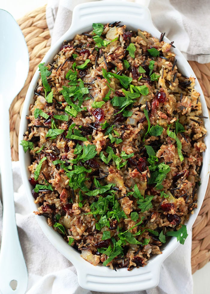 Herbed Wild Rice and Quinoa Stuffing