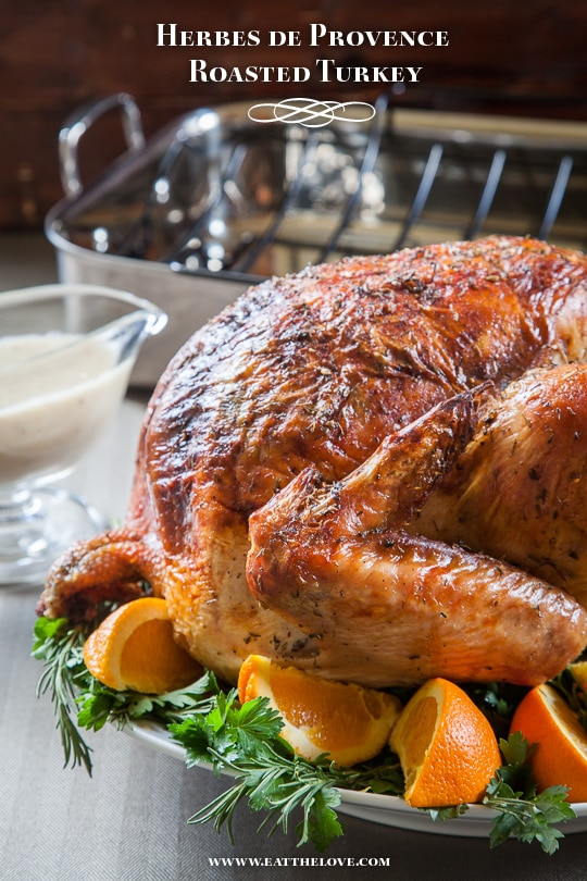 Herbes de Provence Roasted Turkey [Sponsored Post]
