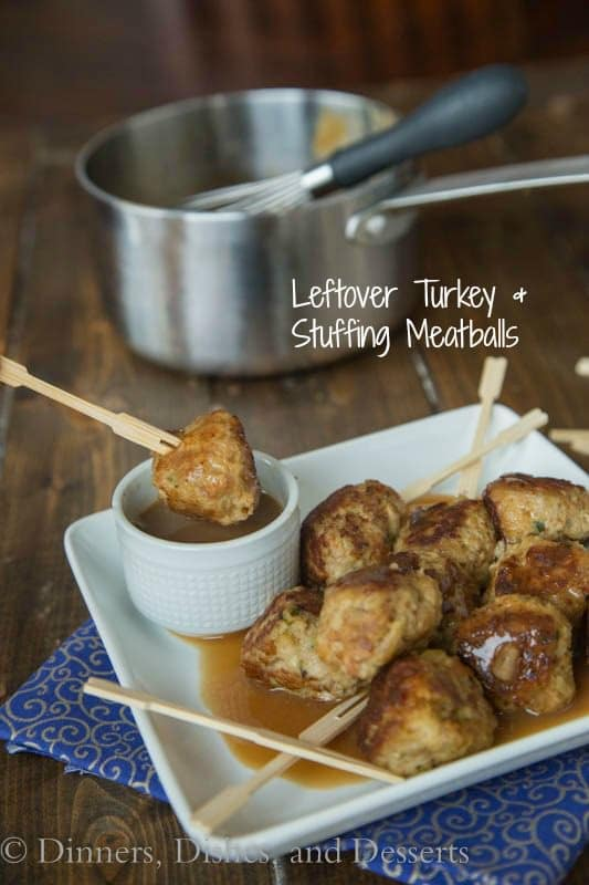 Turkey and Stuffing Meatballs.