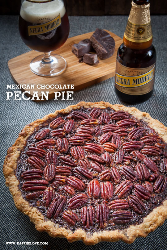 Mexican Chocolate Pecan Pie with Negra Modelo beer [Sponsored Post]