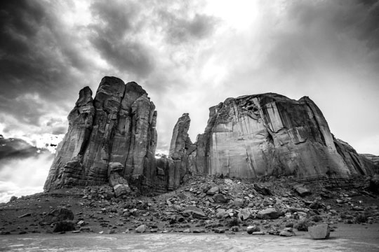 Black and White Monument Valley