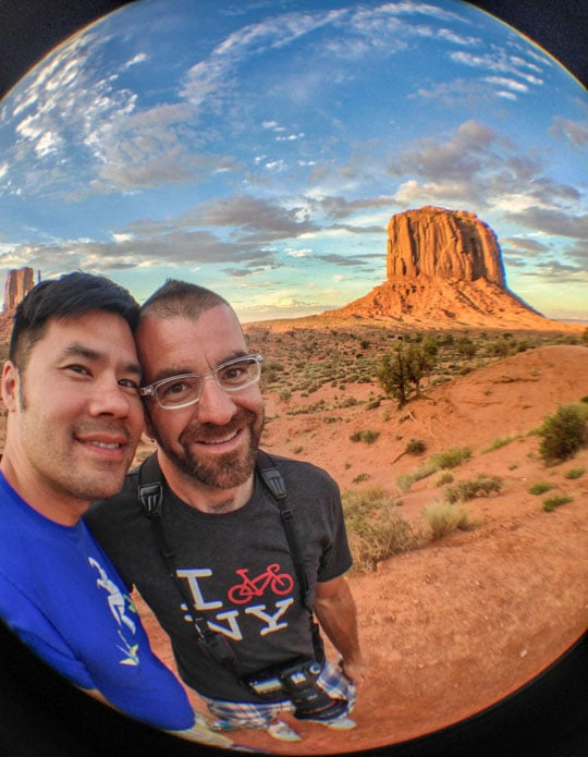 AJ and me at Monument Valley