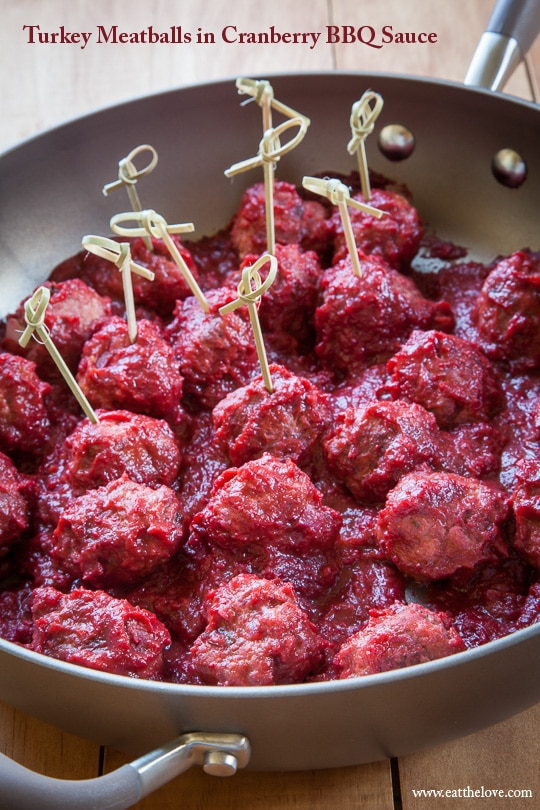 Turkey Cranberry Meatballs. Photo and recipe by Irvin Lin of Eat the Love.