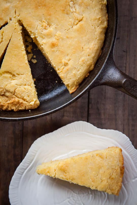 Best homemade cornbread recipe ever. Photo and recipe by Irvin Lin of Eat the Love.