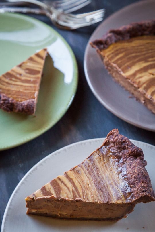Chocolate Pumpkin Pie by Irvin Lin of Eat the Love.