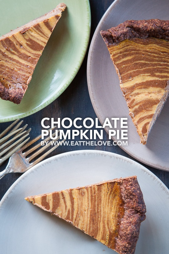 Chocolate Pumpkin Pie. Photo and recipe by Irvin Lin of Eat the Love.