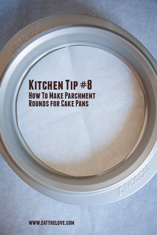 How to make parchment rounds for the bottom of cake pans. Photo and tutorial by Irvin Lin of Eat the Love.
