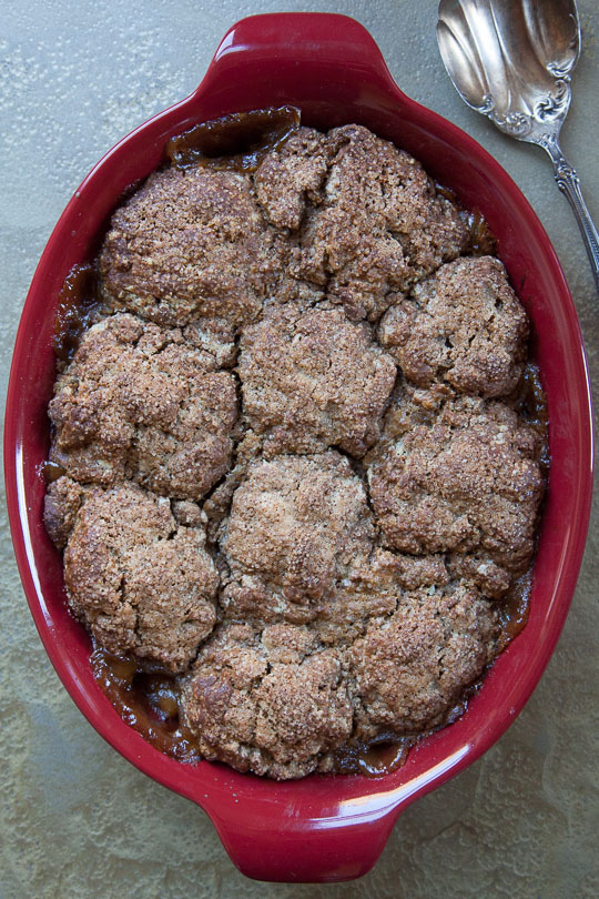 Pear and Ginger Cobbler with Gingerbread Biscuits Recipe. Photo by Irvin Lin of Eat the Love.