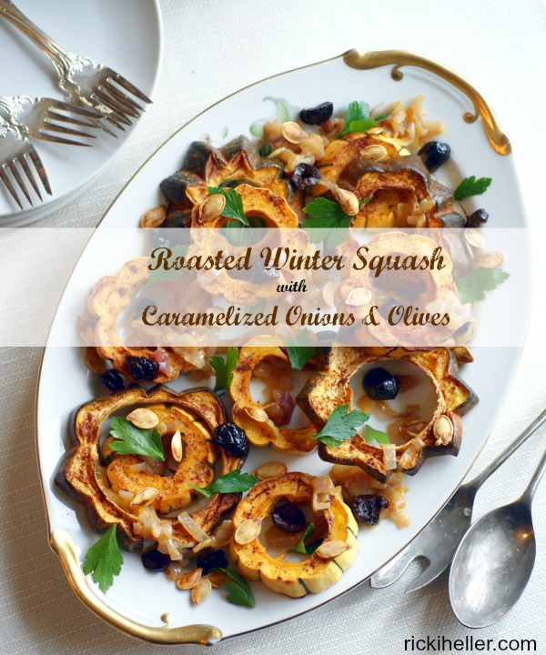 Roasted Winter Squash with Caramelized Onions and Olives