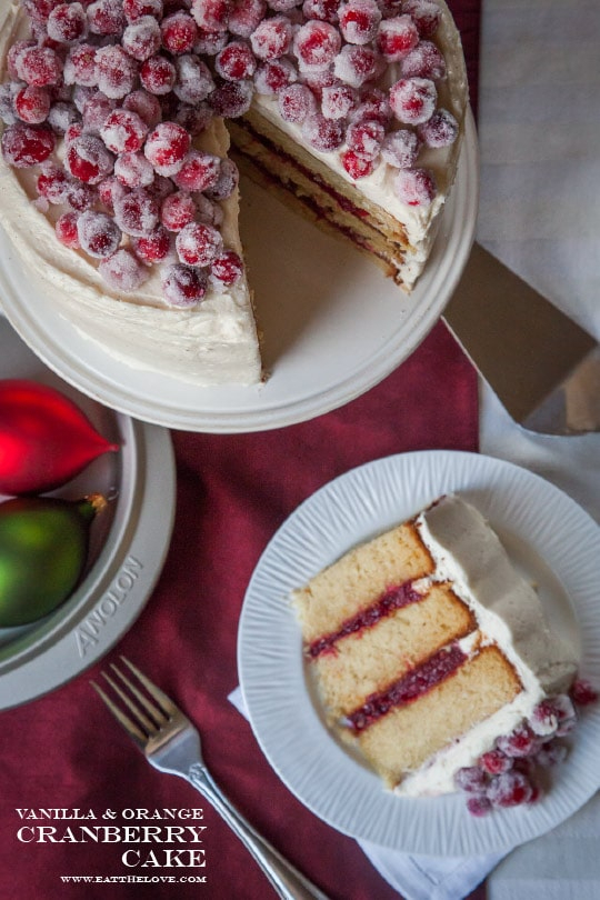 Vanilla and Orange Cranberry Cake [Sponsored Post]