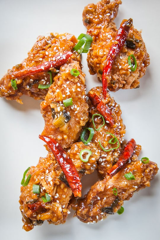 Highly addictive General Tso's Chicken Wings. Recipe and photo by Irvin Lin of Eat the Love.