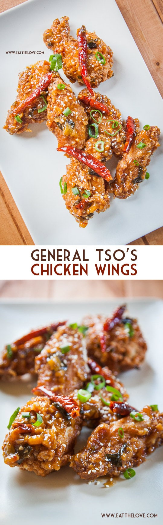 General Tso's Chicken Wings. A highly addictive appetizer recipe! Photo and recipe by Irvin Lin of Eat the Love.