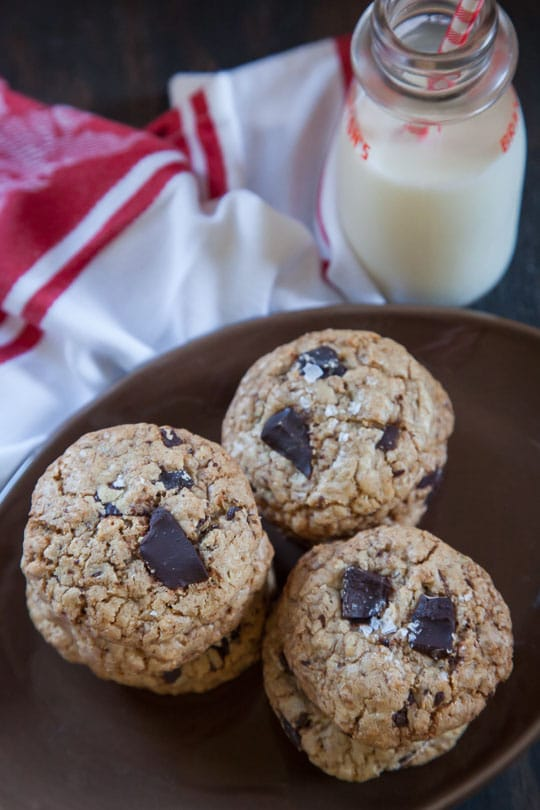 Oatmeal Chocolate Chip Cookie Recipe, the absolute best ever! Photo and recipe by Irvin Lin of Eat the Love.