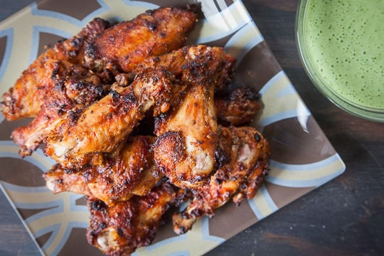 Peruvian Chicken Wings with Spicy Peruvian Green Sauce. Photo and recipe by Irvin Lin of Eat the Love.