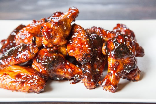 Teriyaki Chicken Wings. An easy recipe from Eat the Love.