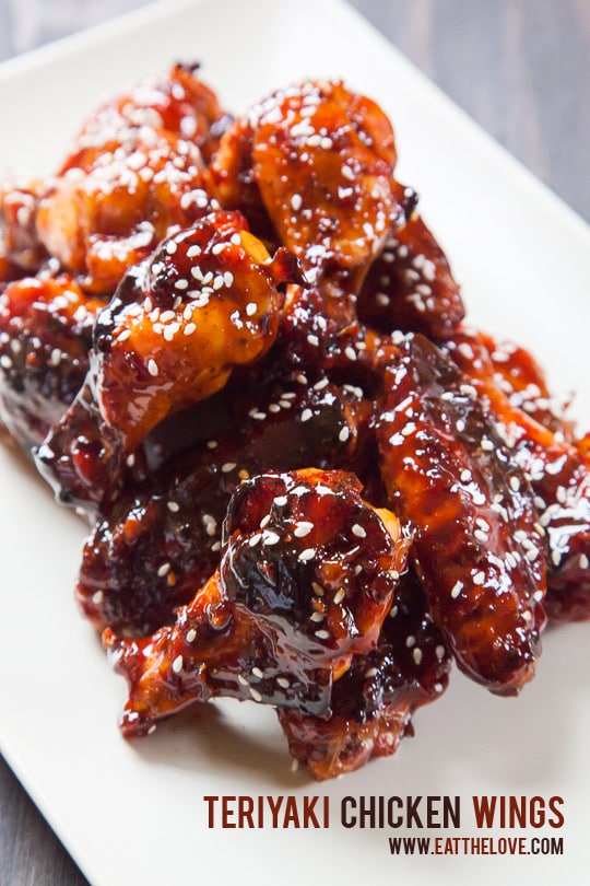 Teriyaki Chicken Wings. An easy and addictive recipe from Eat the Love.