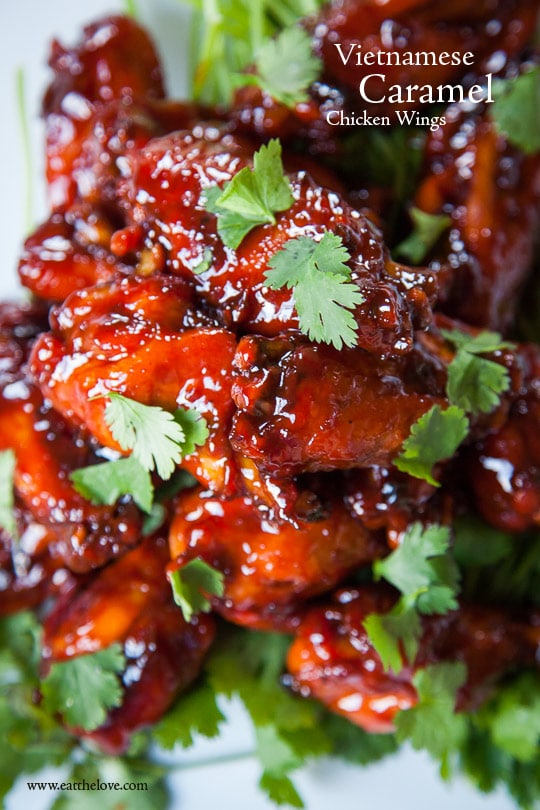 Vietnamese Caramel Chicken Wings. Photo and recipe by Irvin Lin of Eat the Love.