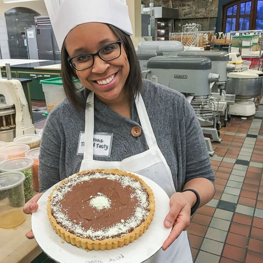 Yvonne of Tried and Tasty Blog at the Culinary Institute of American in Greystone. Photo by Irvin Lin of Eat the Love.