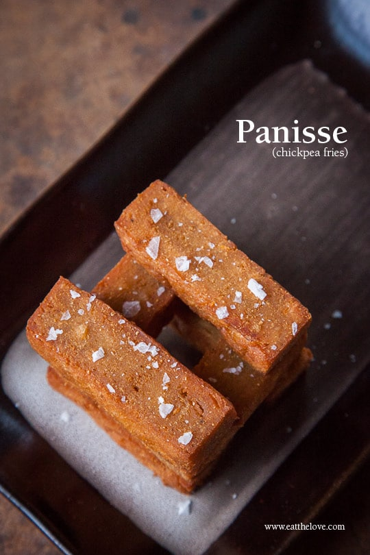 Panisse aka Chickpea Fries. Photo and recipe by Irvin Lin of Eat the Love.