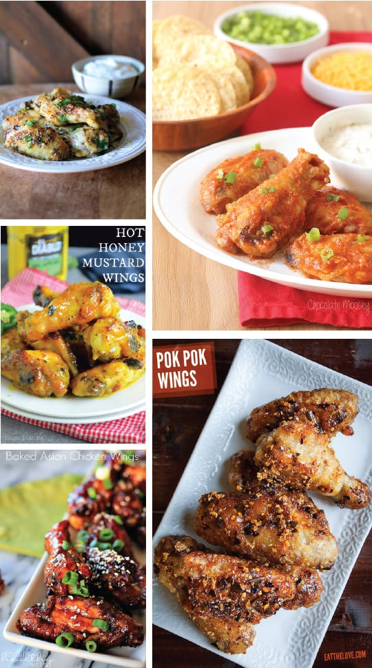 5 Awesome Chicken Wings Recipes from Eat the Love's 50 Chicken Wings Recipe Roundup!
