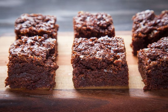 Rye Brownies recipe with Caramel and Sea Salt. Photo and recipe by Irvin Lin of Eat the Love.