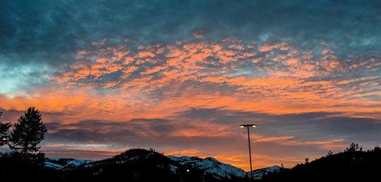 Tahoe at twilight.