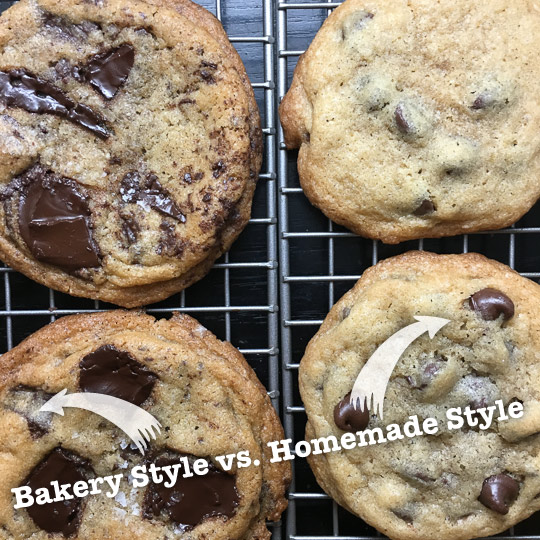 Bakery Style Cookies vs Homemade Style Cookies.